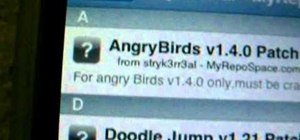 Download a hack for the iPhone game Angry Birds