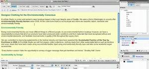 Modify a cascading style sheet in Dreamweaver CS5