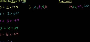 Find the factors of a number in basic mathematics