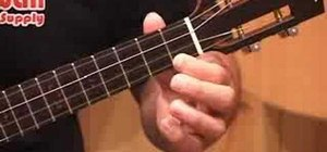 Play the ukulele with proper left hand position