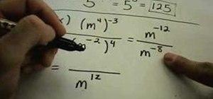 Understand negative exponents