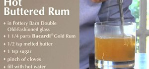 Mix hot buttered rum for the holidays