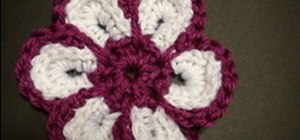 Make a cheerful crochet flower