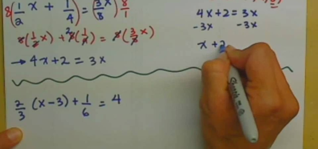 How To Clear Fractions From Linear Equations In Algebra Math