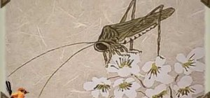 Draw a small cricket - Chinese brush painting