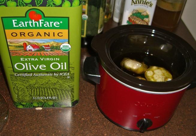 how to make garlic olives