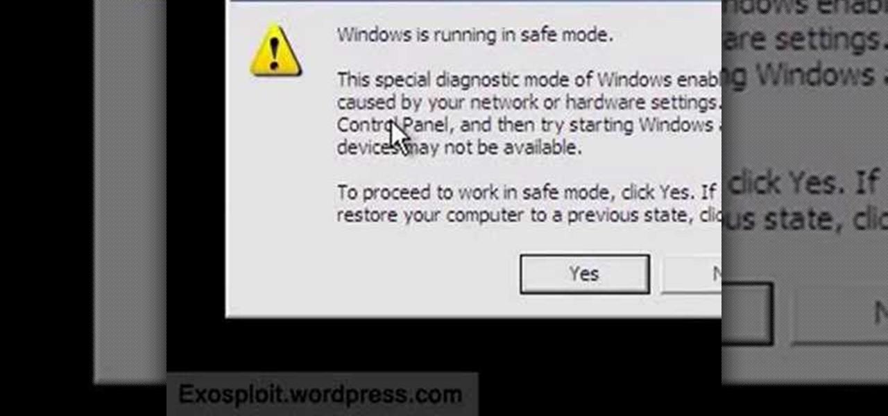 describe how to boot windows xp into safe mode