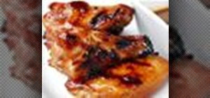 Grill chicken wings with soy sauce, paprika, and sugar