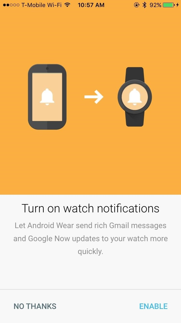 connect android wear smartwatch your iphone