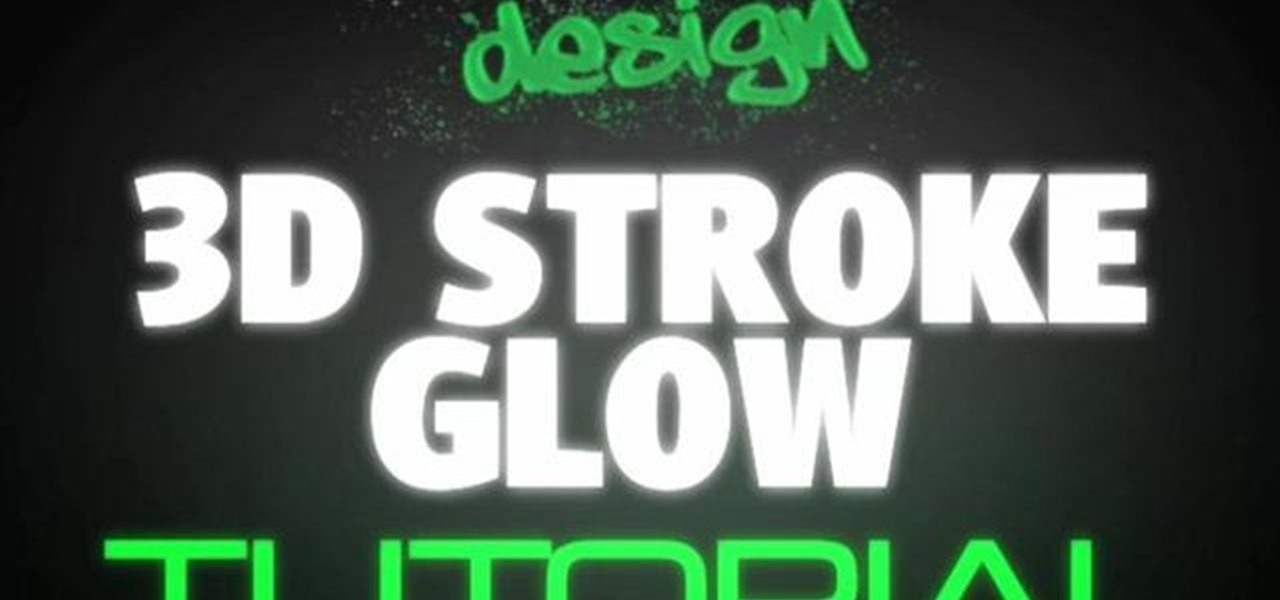 How to Create a 3D glow text stroke effect in After Effects