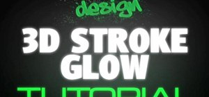 Create a 3D glow text stroke effect in After Effects