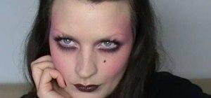 Create a pink 1920s film noir makeup look