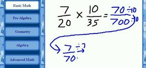 Multiply fractions with unlike denominators