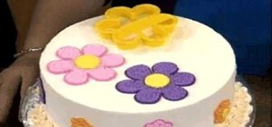 Make & decorate a pastel flower cake