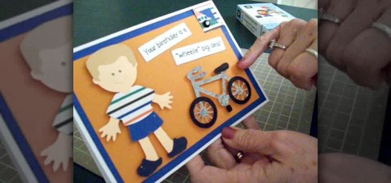 How To Make A Cricut Biker Boy Birthday Card Papercraft