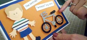"Make a Cricut ""biker boy"" birthday card"