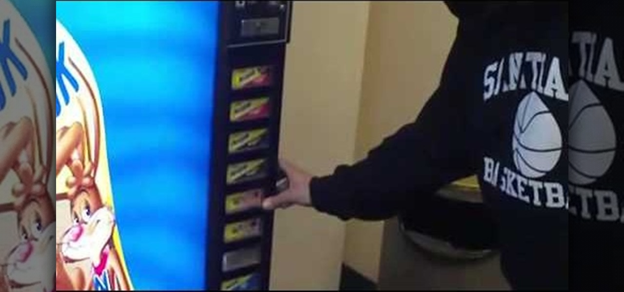 free drink from vending machine
