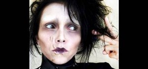 Apply Edwards Scissorhands inspired makeup look