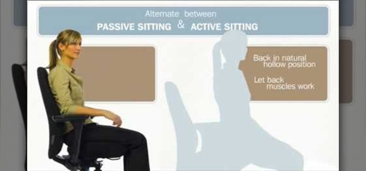 How To Avoid Back Pain From Sitting At A Desk Work Self Help Wonderhowto