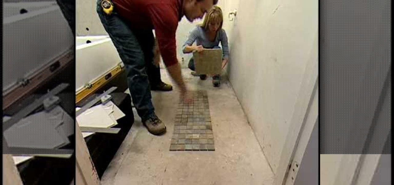 How to Tile a bathroom floor with Home Depot « Construction & Repair ...
