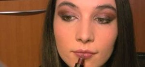 Create a rusty red and sienna makeup look for fall