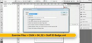 Import XML using the Structure pane in InDesign CS5