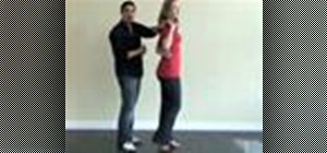 Do the patternito salsa dance move (reverse cross body lead)