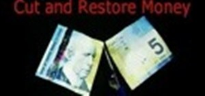 Perform the cut and restored money trick