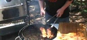 Make barbecue bacon-smoked pork tenderloins