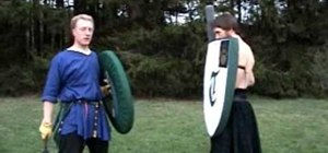 Fight defensively with a shield when engaging in boffer combat