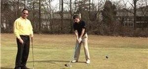 Hit a golf ball 300 yards