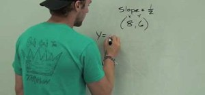 Write and graph an equation in slope intercept form