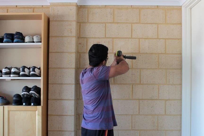 DIY - BROOM and MOP HOLDER