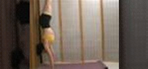 Do a yoga handstand with variations for beginners