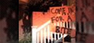 Create a spooky Halloween sign for your front yard