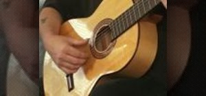 Tune your acoutic guitar for flamenco style playing