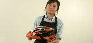Choose a bicycle helmet