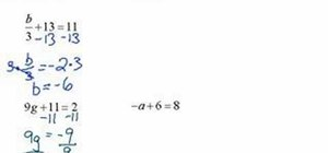 Solve two-step equations in algebra