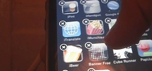 Delete unwanted apps on an iPod Touch or iPhone