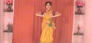 "Perform the Indian Bharatanatyam dance ""Namaskar"" move"