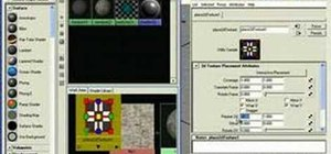 Test Photoshop-made textures in Maya 7