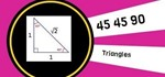 How to Find Leg Lengths and Hypotenuse of a 45 45 90 Triangle