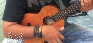 Strum on your ukulele