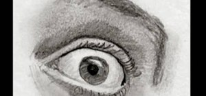 Master drawing a fearful human eye in two minutes