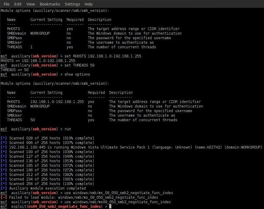 How to Hack Like a Pro: Hacking Windows Vista by Exploiting SMB2 Vulnerabilities