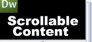 Create scrollable content in Dreamweaver