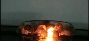 Do a flaming ice experiment