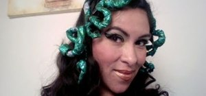 Create a beautiful serpentine Medusa look for Halloween
