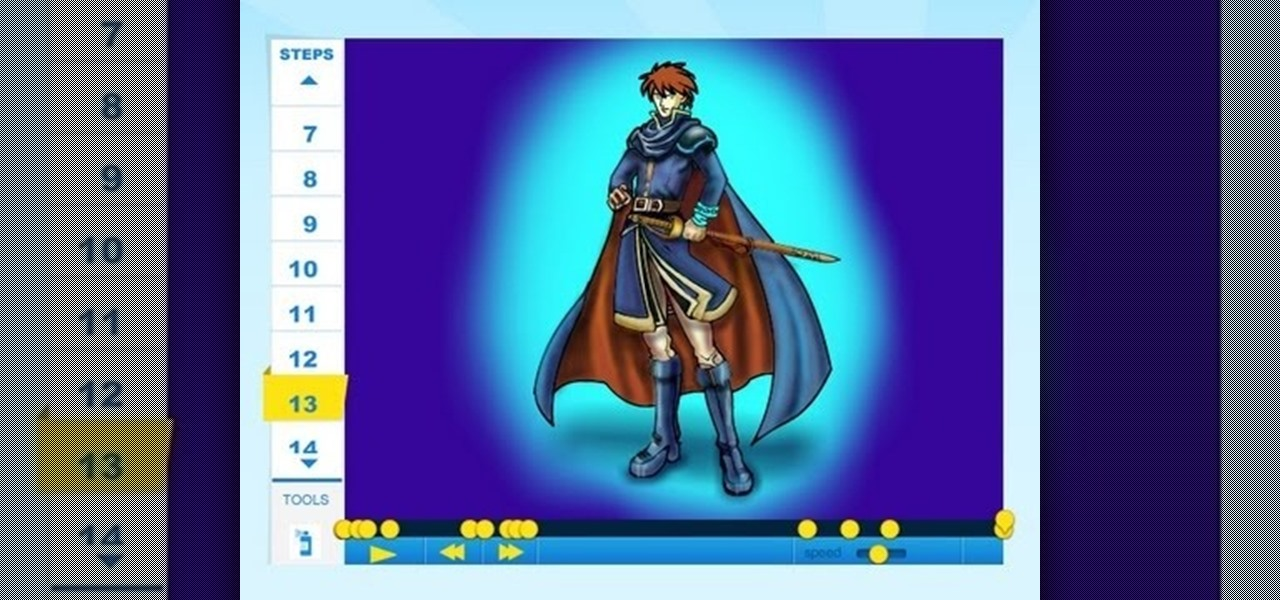 Draw Eliwood of Fire Emblem