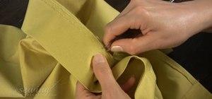 Undo the hem on a pre-made skirt